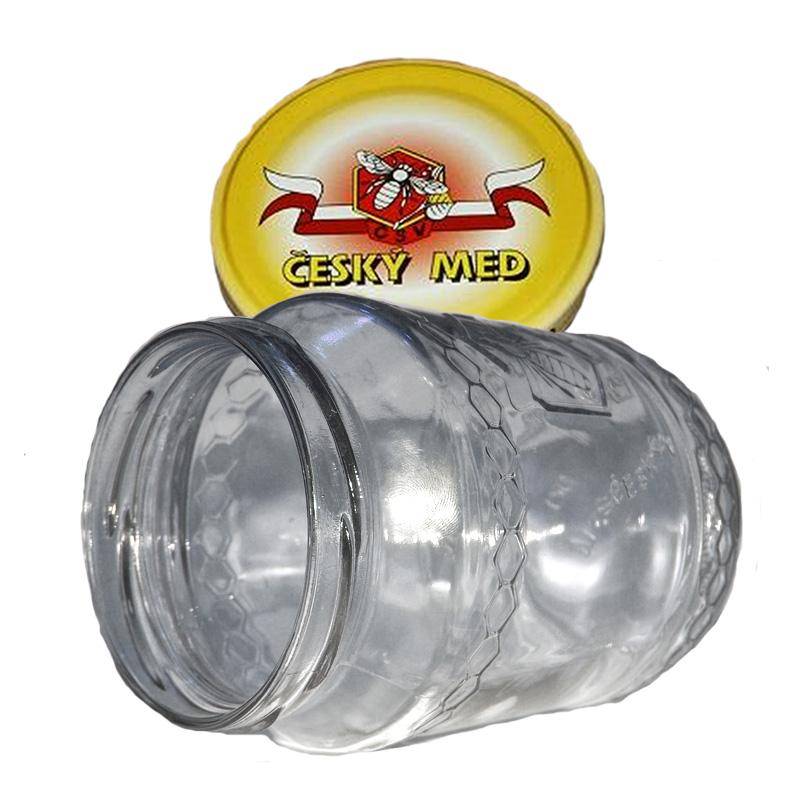 Sklenice na med typ Včela 720 ml + víčko (balení 10 ks)-1