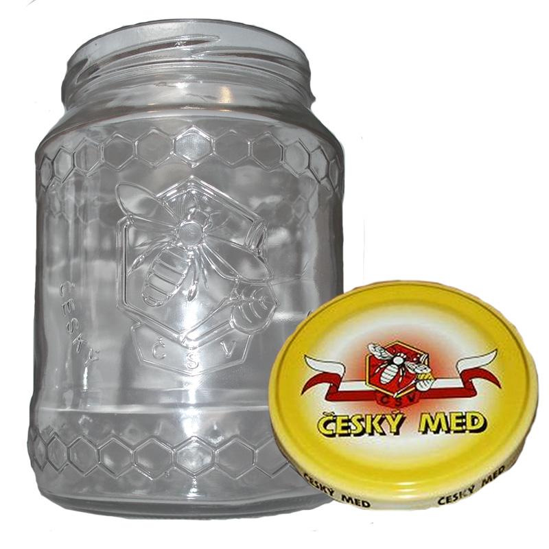 Sklenice na med typ Včela 720 ml + víčko (balení 10 ks)-2