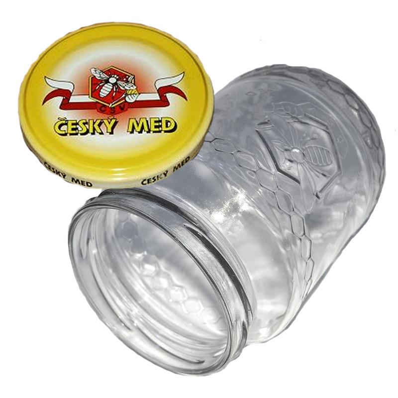 Sklenice na med typ Včela 720 ml + víčko (balení 10 ks)-4